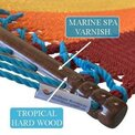 Caribbean Jumbo Hammock made of polyester and wood spreader is varnished and 55 inches wide